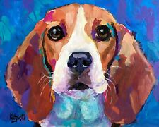 Beagle Art Print from Painting | Beagle Gifts, Poster, Picture, Home Decor 8x10