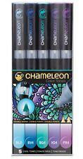 Chameleon Color Tones 5 Pen Set Alcohol Blending Gradient - Cool Colour Tones