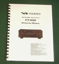 Yaesu FT-950 Instruction Manual -  Premium Card Stock Covers & 32 LB Paper!