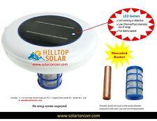Solar Pool Purifier Ionizer System Kills Algae Reduce Chemicals Use in Pool