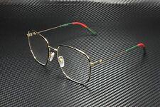 GUCCI GG0396O 001 Aviator Gold Multicolor Gold Demo Lens 56mm Women's Eyeglasses