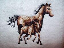 Handtuch mit Pferde bestickt Geschenk Name gratis Handarbeit Geburtstag