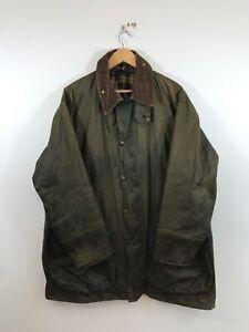 Vintage Barbour Border Waxed Cotton Jacket Coat 46