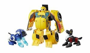 Playskool Heroes Transformers Rescue Bots Bumblebee Rescue Guard 10-Inch Conv...