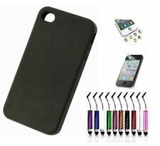 Étuis, housses et coques noirs iPhone 4s en silicone, caoutchouc, gel pour téléphone mobile et assistant personnel (PDA)
