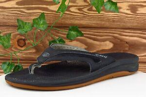 Reef Size 8 M Black Flip Flop Synthetic Men Shoes