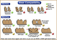 8pc Set Solid Black Rear Bench Seat Cover FREE Steering Wheel Cover Head Rest 1D