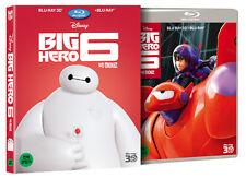 Big Hero 6 (2015, Blu-ray) Slip Case Edition / 2D + 3D Combo