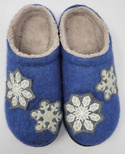 LL Bean Daybreak Scuffs Wool Snowflake Motif Sz 8 Medium