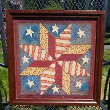 Vintage Home Interiors Picture Americana, Don Easterwood, Wood Frame