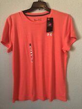 under armour mens tee shirt top stretch heatgear neon orange XL NEW $24.99 #V130