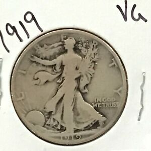 1919 Walking Liberty Silver Half Dollar   E8944