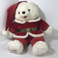"Snowflake Teddy Bear 20"" Plush Male Christmas 2000"