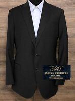 Brooks Brothers 346 Explorer Men's Dark Gray Wool Blazer Sport Coat Jacket 42L