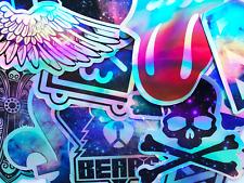 20 Metallic Holographic Shine Reflective Stickers Skateboard Pop Art Decals #CU3