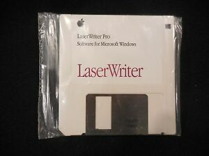 """LaserWriter Pro Software For Microsoft Windows 3 1/2"""" Floppy Disk  690-0462-A"""