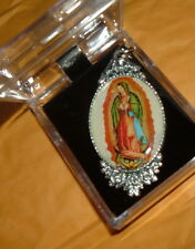 BEAUTIFUL OUR LADY OF GUADALUPE Pendant w/chain NIB Catholic MARY ITALY