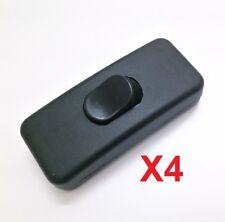 Interruptor Basculante Pasante Para Flexo Lampara  - 2A - 250V - Pack 4 Unidades