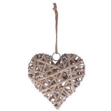 Rustic Chic Wicker Craft Wedding Venue Wall Decor w/ String Heart Art Decor
