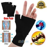 Copper Wrist Support Compression Glove Hand Brace Arthritis Pain Relief Sleeve