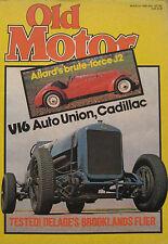 Old Motor 03/1980 Featuring Allard J2, Auto Union, Cadillac, Delage, Austin