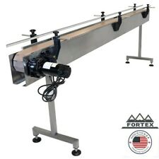 Fortex Stainless Steel 10' X 4.5� Inline Packaging Conveyor With Table Top Belt