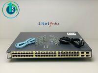 Cisco WS-C3750G-48PS-S • 48 Port PoE 3750G Gigabit Switch ■ 1 YEAR WARRANTY ■