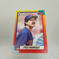 Fred Manrique Twins Topps 1990 Baseball Card