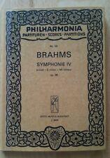 Brahms Symphonie Nr 4 taschenpartitur