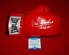 ERIK MORALES TERRIBLE signed everlast laced boxing glove beckett witnessed COA