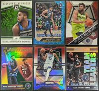 Lot of (6) Karl-Anthony Towns, Including Hoops Teal Explosion, Prizm RWB & more