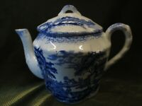ANTIQUE RIDGWAY HUMPHREYS CLOCK  BLUE CHILDS TEA POT HOLDS APPROX.75pts
