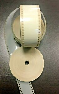 35MM Beige MOVIE FILM LEADER 100 FT FOR EDITING / PROJECTION & CAN
