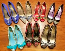 Lot Of 7 Pairs Of Womens Shoes Heels Pumps ~ US Size 10 ~ Naughty Monkey Madden