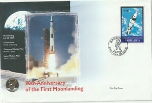 1999 Barbados FDC cover 30th Anniversary of the First Moonlanding
