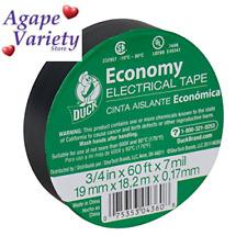 Duck 299006 Utility Vinyl Electrical 34 Inch X 60 Feet Single Roll Black