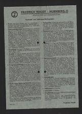 NÜRNBERG, Brief 1939, Friedrich Traudt Solnhofer Naturstein-Platten