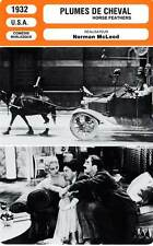 FICHE CINEMA : HORSE FEATHERS - Marx Brothers,McLeod 1932