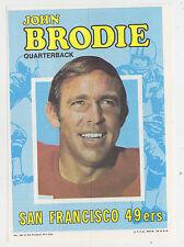 1971 TOPPS INSERT POSTER JOHN BRODIE SAN FRANCISCO 49ERS STANFORD PGA 18 PAPER