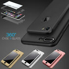 New Hybrid 360° Hard Thin Case + Tempered Glass Cover For iPhone 6 6s 7 Plus