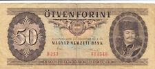 Billet banque HONGRIE HUNGARY MAGYAR 50 FORINT 1986 état voir scan 546