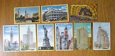 LOTTO 9 CARTOLINE NEW YORK STATI UNITI MADISON SQUARE ANNI '50 SUBALPINA W