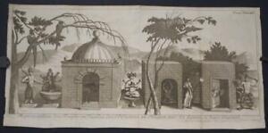 TONKIN TEMPLES & GODS VIETNAM 1727 GEMELLI  CARERI UNUSUAL ANTIQUE ORIGINAL VIEW