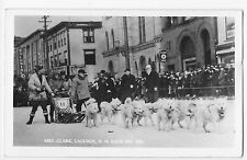 Laconia NH RPPC Dogsled Race 1936 Mrs Clark Real Photo Vintage Postcard