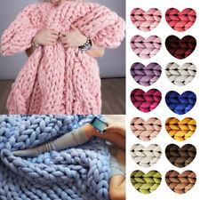 New Chunky Wool Yarn Super Soft Bulky Arm Knitting Wool Roving Crocheting DIY AU