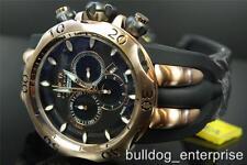 Mens Invicta Reserve Venom Fang Rose Tone Swiss Chronograph Black Dial Watch New