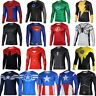 Men's Causal Compression Long Sleeve Fitness Sports T-shirt Shirt Muscle Tops