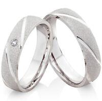 Verlobungsringe Partnerringe aus 925 Silber mit Gravur und Ringe Etui S200