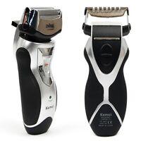 New Mens Electric Cordless Rechargeable Shaver Washable Double Edge Foil Trimmer