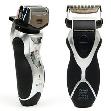 Mens Rechargeable Cordless Electric Razor Facial Shaver Double Edge Foil Trimmer